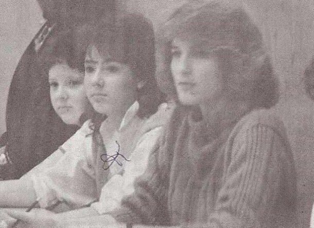 Holly Homer at school 1986