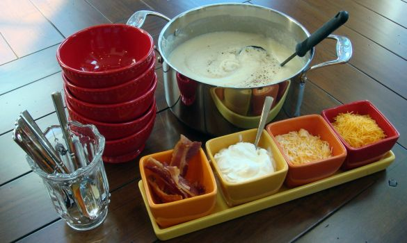 Potato Soup Buffet