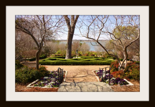 Dallas Arboretum formal garden