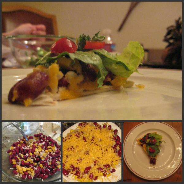 Open faced Tostada Salads