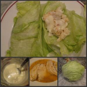 Lettuce Gyros with Tilapia and Yogurt Sauce