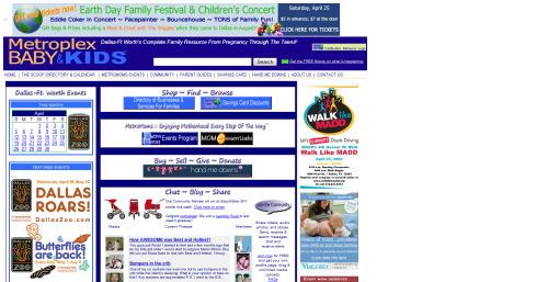 Metroplex Baby and Kid website