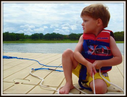 rhett on dock with rope