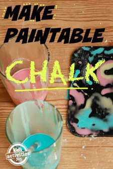 Preschool Project: Make Your Own Paintable Chalk