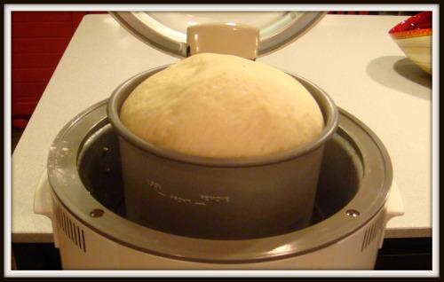 Cheeseburger Runzas - bread dough has risen