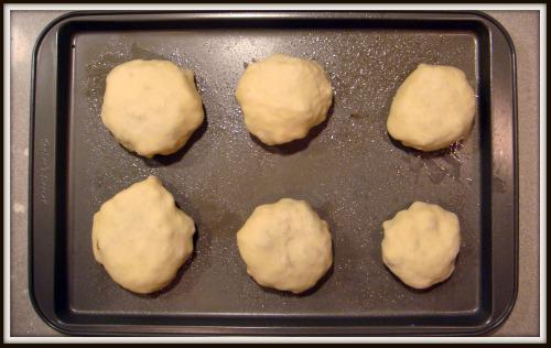 Cheeseburger Runzas - on oven sheet