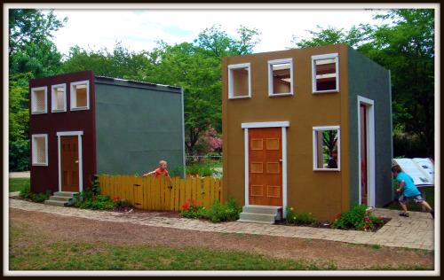 City Green playhouse at Dallas Arboretum