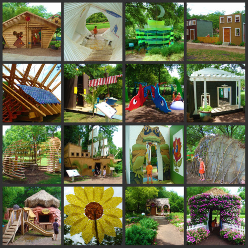15 of the Dallas Arboretum Storybook Playhouses pictured here