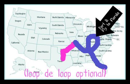 St. Louis to Florida - loop de loop optional