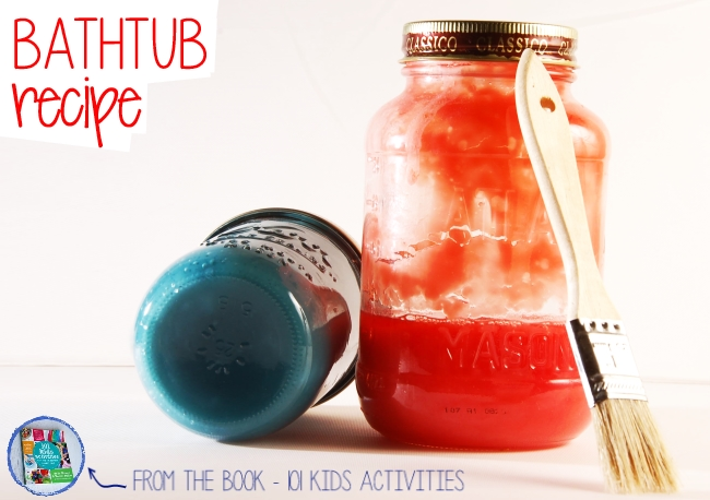 Bathtub Paint recipe from the book 101 Kids Activities