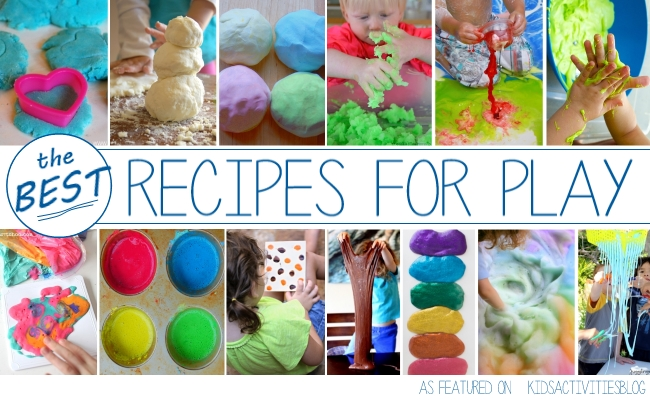 Make play recipes like the DIY bouncy ball with this collection of homemade play dough, clay, slime and more.