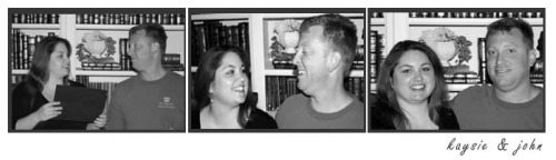 Project Baby Surprise - couple film strip black and white