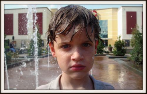 Reid in fountain
