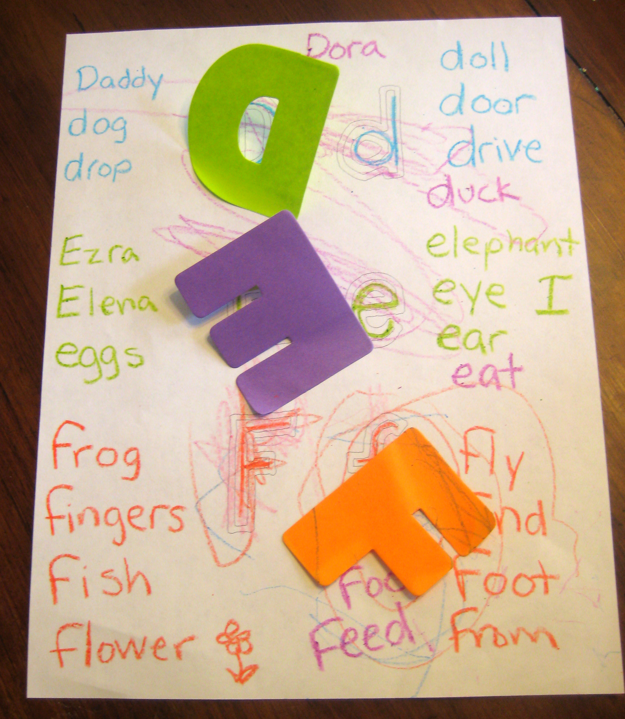 Learning letters fun