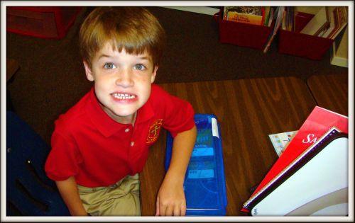 Reid's first day of school