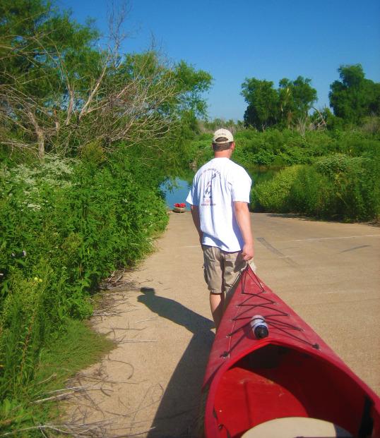 Brian Pulling Kayak