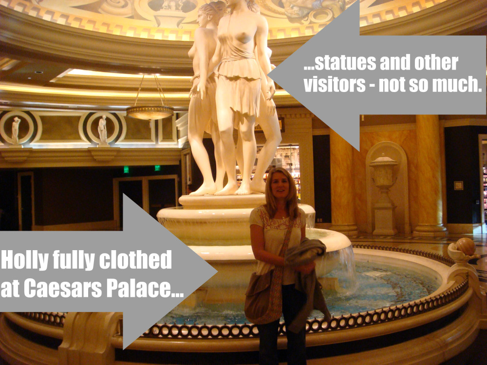 Holly at the Caesars Palace fountain