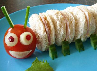 caterpillar food art