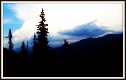 Fuzzy sky in Colorado