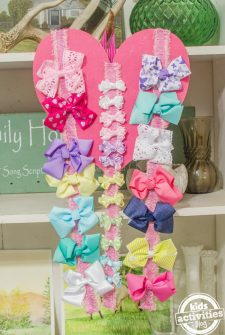 DIY hairbow display