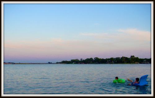 Texas sunset over Eagle Mountain Lake