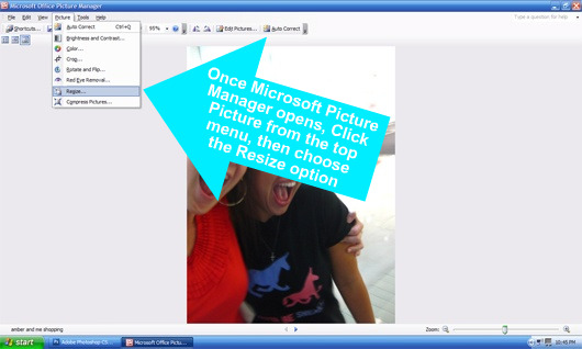 Photo Resizing with Microsoft Picture Manager 4