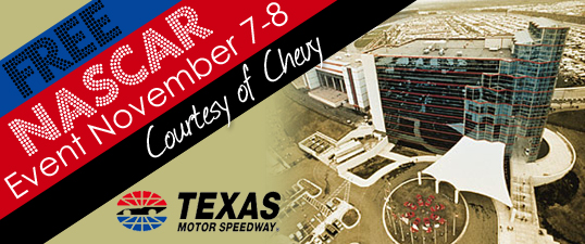 Nascar event at texas motor speedway courtesy of chevy for Texas motor speedway events