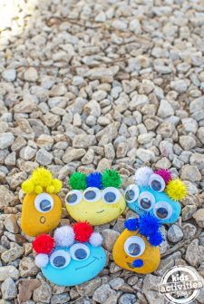 Make Rock Creatures {Rainy Day Fun Craft!}