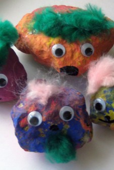 Rainy Day Fun, Make Rock Creatures