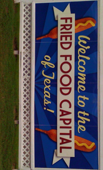 State Fair of Texas Fried Food Capital of Texas sign