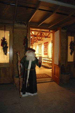 Santa at the Visitors Center
