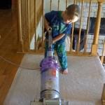 Vacuuming Kid