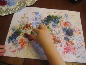 Preschooler Texture Art