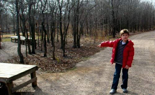 LLELA log cabin homestead from trail