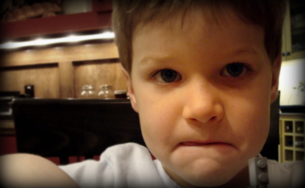 Rhett looking at the camera