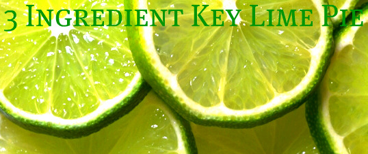 Three Ingredient Key Lime Pie