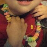 preschool edible necklace activity