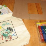Supplies to make preschool tote bag project