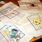 preschooler made tote bag