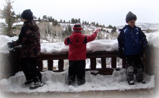 Three Boys in the Snow