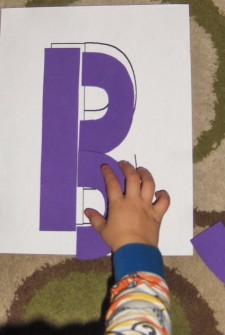 Make Your Own Foam Letter Puzzle