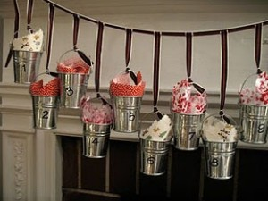 advent calendar buckets