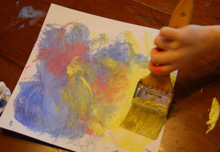 Painting with shaving cream frugal crafting for Shaving cream paint