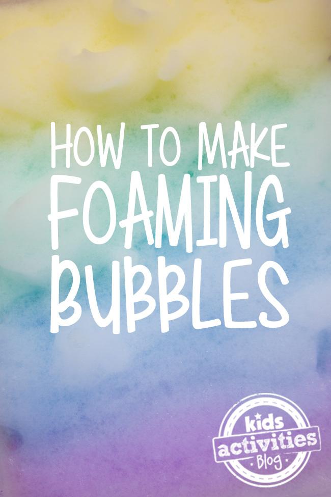Comment faire des bulles moussantes