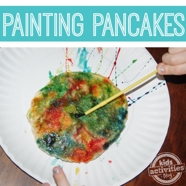 Painting Pancakes - fun from Kids Activities Blog