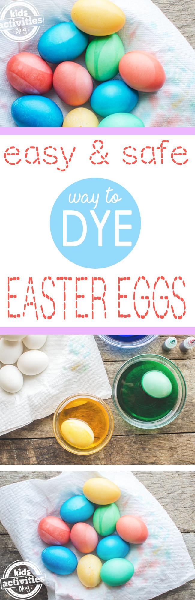 comment teindre les œufs de Pâques - un moyen facile et sûr de teindre les œufs de Pâques - 3 étapes illustrées