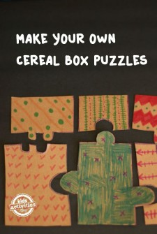 Make Your Own Cereal Box Puzzles