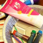how to make sunscreen fingerpaint