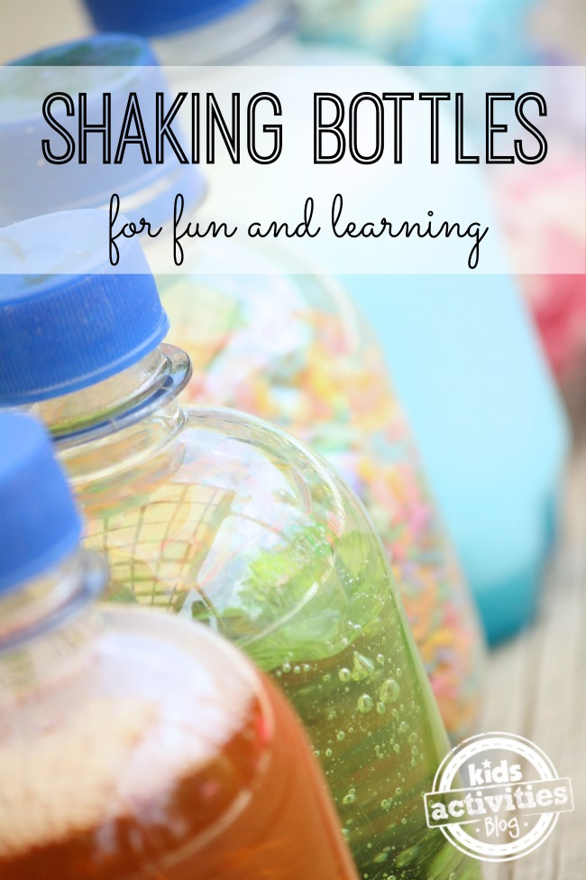 Shaking bottles for toddlers