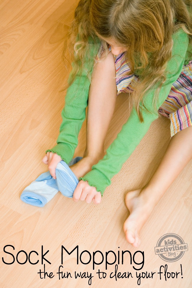 sock mopping to clean your floor